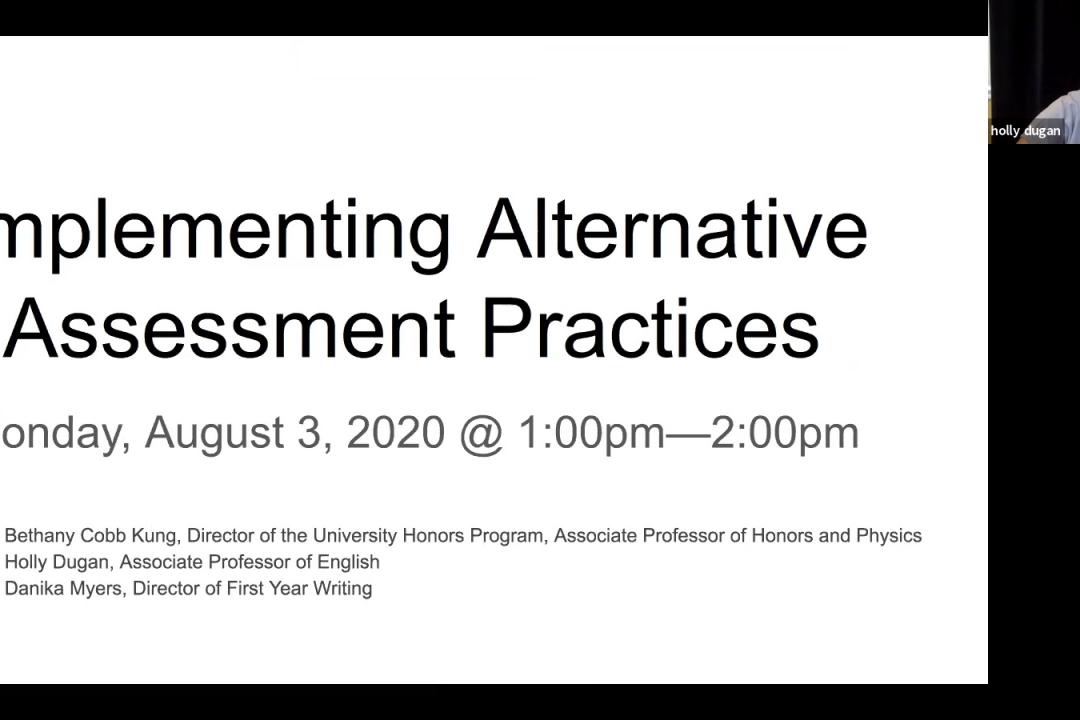 Implementing Alternative Assessment Practices