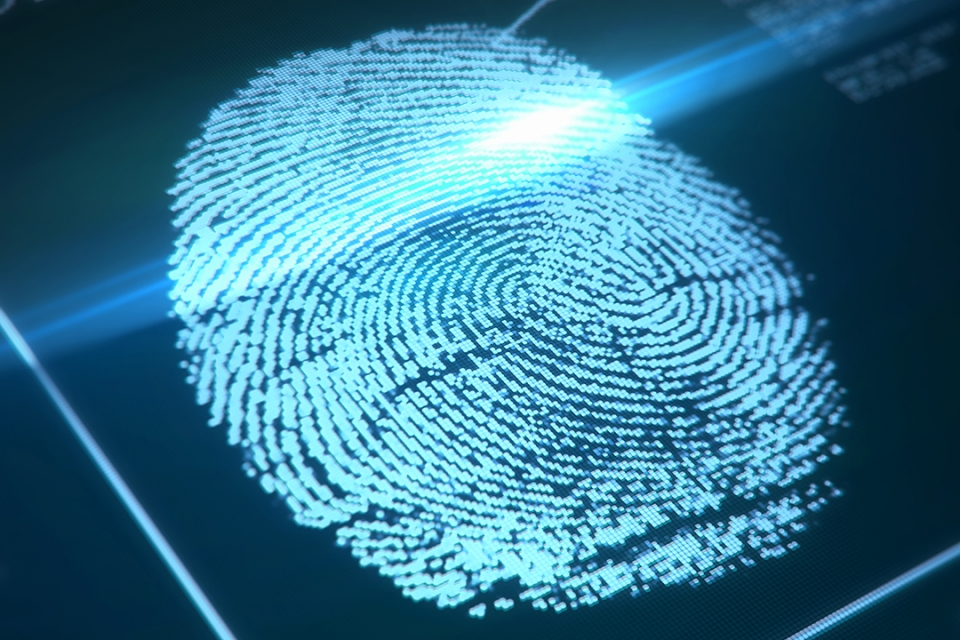 scanned fingerprint