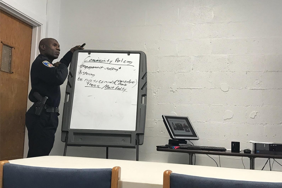 Detective Edward Gillespie, BA '92, uses humanities lessons to train Baltimore police.