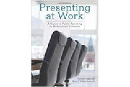 Picture of book cover Presenting at Work