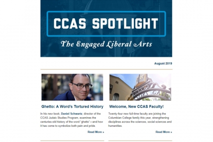 "August 2019 edition of ""CCAS Spotlight"""