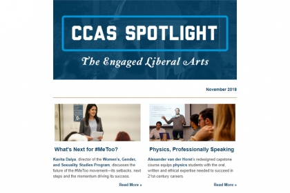 November 2018 CCAS Spotlight The Engaged Liberal Arts