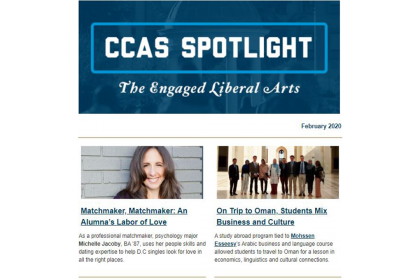 February 2020 CCAS Spotlight Screenshot