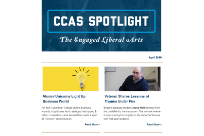 CCAS Spotlight the Engaged Liberal Arts April 2019 Thumbnail