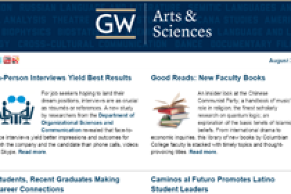 August 2016 GW Columbian College of Arts and Sciences E-Magazine
