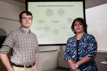 Luther Rice fellow Connor Delaney and Economics Professor Irene Foster