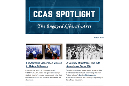 March 20202 CCAS Spotlight the engaged liberal arts