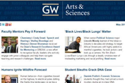 May 2016 GW Columbian College of Arts and Sciences E-Magazine