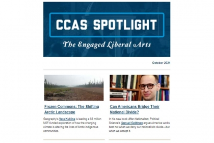 CCAS Spotlight: The Engaged Liberal Arts, October 2021