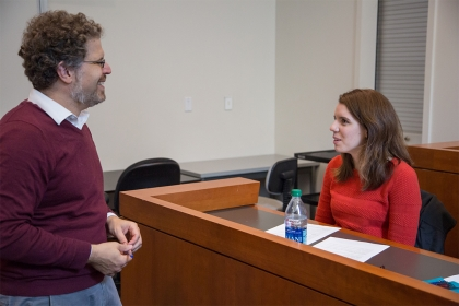 Taylor Stonebarger with Professor Jamie Cohen Cole