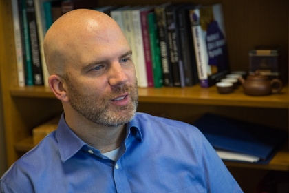 Greg Wallace, assistant professor of speech, language and hearing sciences (Photo: Long Nguyen)