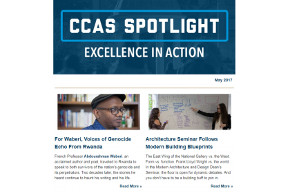 May 2017 CCAS Spotlight