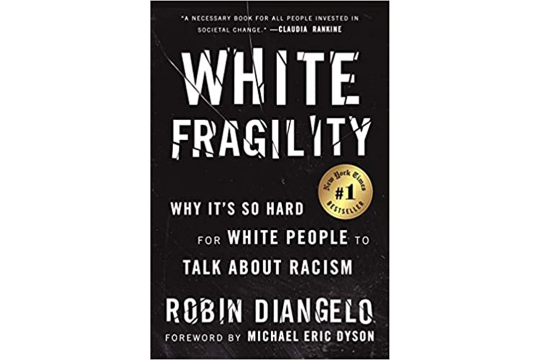 "Book cover for ""White Fragility"" by Robin DiAngelo"