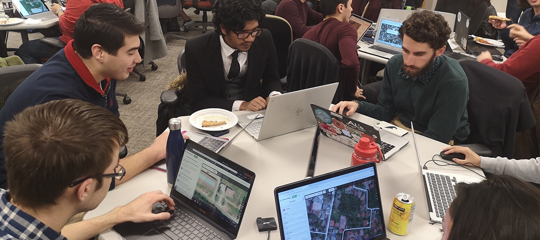 At a Geography Department Mapathon, students traced secure food routes through the Philippines